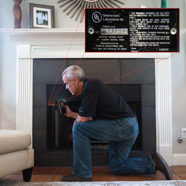 How To Find Fireplace Model Number and Manufacturer