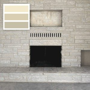 Stone Fireplace painted with Brick Anew Frosted Sunshine